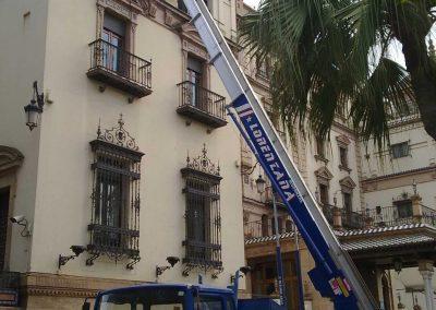 Mudanzas en Sevilla escaleras
