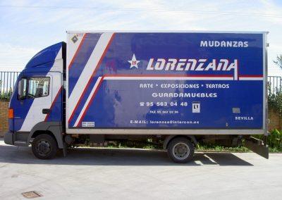 Camión mudanzas domésticas